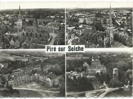 En Avion Au Dessus De...PIRE SUR SEICHE - Vue Générale, L' Eglise, L'Ecole Des Missions - Other Municipalities
