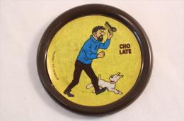 Vintage & Rare Tintin Captain Haddock And Snowy - 1982 Advertising Brown Badge - Cómics