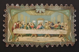 Antique & Rare Holy Card Of The Last Supper - Memories Of The Holy Thursday 1913 - Imágenes Religiosas