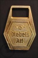 Vintage German Bottle Opener Diebels Alt - Golden Colour - Destapador/abrebotellas