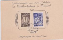 1942 - FINLAND - REPIQUAGE Avec OBLITERATION FDC Sur CARTE ENTIER POSTAL (VOIR DOS) - Finlandia