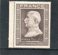 FRANCE    1,50 F+ 3,50 F    Année 1944   Y&T: 606      (neuf Sans Charnière Léger Manque De Colle En Haut) - Nuovi