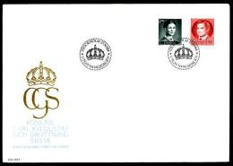 00394) Schweden - Michel 1276 / 1277 - FDC - 1.90-2.40Kr König Carl XVI. - FDC