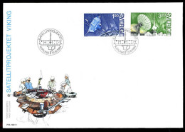 00395) Schweden - Michel 1305 / 1306 - FDC - Satellitenprojekt VIKING - FDC