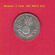 BAHAMAS    5  CENTS  1981  (KM # 60) - Bahamas
