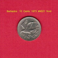 BARBADOS   10  CENTS  1973  (KM # 12) - Barbados