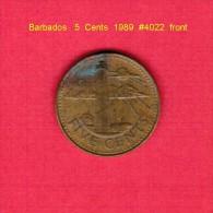 BARBADOS   5  CENTS  1989  (KM # 11) - Barbades