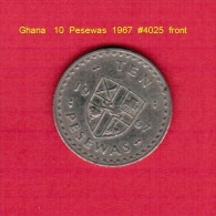 GHANA   10  PESEWAS  1967  (KM # 16) - Ghana