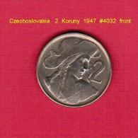 CZECHOSLOVAKIA   2  KORUNY  1947 (KM # 23) - Czechoslovakia