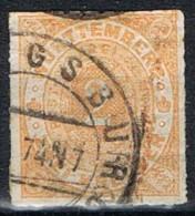 Sello 2 Kr Wurtemberg, Cifra Negra, Yvert Num 37 º - Wurtemberg