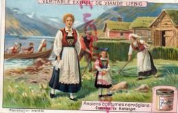CHROMO LIEBIG - ANCIENS COSTUMES NORVGIENS-NORVEGE-HARDANGER- FRAY BENTOS-URUGUAY-COLON ARGENTINE - Liebig