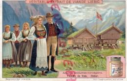 CHROMO LIEBIG - ANCIENS COSTUMES NORVGIENS-NORVEGE-STABUR VOSS- FRAY BENTOS-URUGUAY-COLON ARGENTINE - Liebig