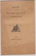 MILITARIA  : Repartition Et Emplacement Des Troupes De L´armée Française ( Cuirassiers , Dragons Etc.. )1901 - Documentos