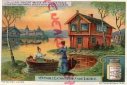 CHROMO LIEBIG - VILLAS ANCIENNES- SUR LE LAC MALAR SUEDE- FRAY BENTOS-URUGUAY-COLON ARGENTINE - Liebig