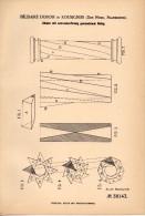 Original Patentschrift - B. Dubois Dans Rousignies , Nord , 1886 , Piliers Avec Revêtement Courbe , Architecture !!! - Andere Gemeenten
