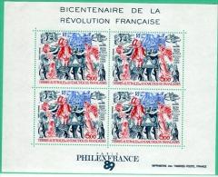 REV-L12 - TAAF Bloc 1 + PA 107 Neufs** Bicentenaire De La Révolution Française - Blocchi & Foglietti
