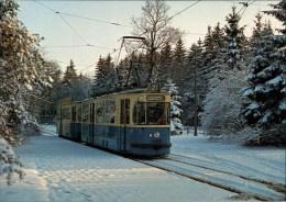 ! Moderne Ansichtskarte Aus München, Straßenbahn Linie 21 An Der Amalienburgstraße 1983, Tramway, Bayern - Tramways