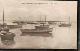 Carte Sépia  PORT.DES.BARQUES (Charente.Inf.) .Le Port Avec BATEAUX - Non Classificati