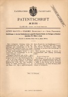 Original Patentschrift - Alfred Maguin Dans Charmes , Aisne , 1886 , Couteaux Pour Les Betteraves , L'agriculture !!! - Andere Gemeenten