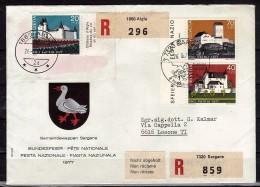 SUISSE   FDC  Recommande  1977 Chateaux - Kastelen