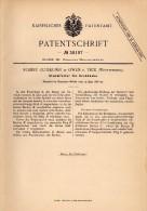 Original Patentschrift - Robert Gutekunst In Owen U. Teck , 1886 , Klemmfutter Für Drehbank , Dreherei , Tischlerei !!! - Historische Dokumente