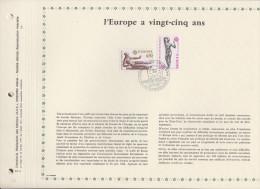 217 FDC 1ER JOUR 1974 FEUILLET L'EUROPE A VINGT CINQ ANS 361 - Documents De La Poste