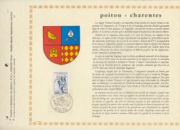 220  FDC 1ER JOUR 1975 FEUILLET POITOU CHARENTES 423 - Documentos Del Correo