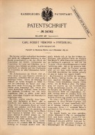 Original Patentschrift - Carl Viehofer In Insterburg / Tschernjachowsk , 1885 , Lehrapparat , Schule , Unterricht !!! - Historische Dokumente