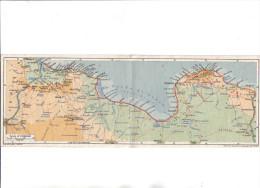 TRIPOLITANIA (LIBIA) NALUT - Cartolina Doppia Panoramica Con Piantina All'interno -F.G.- Anni '1930/'40 - Libia
