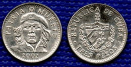 CUBA 3 Pesos 2002. - Cuba