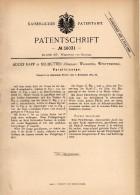 Original Patentschrift -  Adolf Rapp In Neuhütten / Wüstenrot , 1885 , Parallelzange , Werkzeug , Zange , Werkstatt !!! - Historische Dokumente