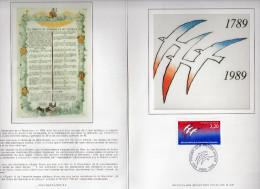 ★ FRANCE - DOCUMENT - BICENTENAIRE REVOLUTION FRANCAISE - Documents Of Postal Services