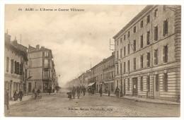 Rare CPA ALBI L´ Avenue Et La Caserne Villeneuve Animation 81 TARN VOIR SCANS Et Descriptions - Albi