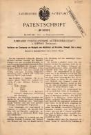 Original Patentschrift -  Ilmenauer Porzellanfabrik AG In Ilmenau I.Th., 1885 , Mattgold Auf Porzellan , Gold !!! - Historische Dokumente