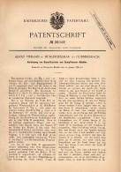 Original Patentschrift - Adolf Viebahn In Mühlensessmar B. Gummersbach , 1886 , Dampftrockner , Dampfmaschine !!! - Historische Dokumente