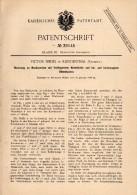 Original Patentschrift - Victor Seidel In Klingenthal I. Sachsen , 1886 , Musikwerk Mit Notenblatt , Seydel !!! - Historische Dokumente