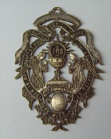 "Médaille Religieuse XIXème  "" Anges Et Calice "" - Religión & Esoterismo"