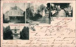 ! 1903 Alte Ansichtskarte Gruss Aus Berg Und Thal Bei Cleve ( Kleve), Hotel Pension Hermann Sonderkamp - Kleve