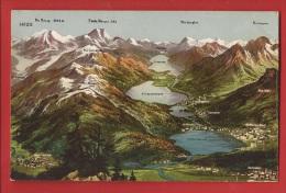 CGR1-26 Panorama Engadin St Moritz, Silvana, Maloja.  Feldbatterie 65 In 1915 - GR Grisons