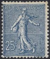 FRANCE 1903 SEMEUSE 25c BLUE BLACK Nº 132b - France