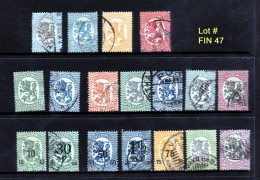 Finland Lot Of 21  Used VF ........Lot FIN47 - Finland