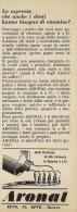 # DENTIFRICIO ARONAL GENOVA 1950s Advert Pubblicità Publicitè Reklame Toothpaste Zahnpaste Oral Dental Healthcare - Attrezzature Mediche E Dentistiche