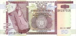 BURUNDI   50 Francs  Daté Du 01-11-2007   Pick 36g     ***** BILLET  NEUF ***** - Burundi