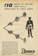 # DENTIFRICIO  BINACA CIBA MILANO 1950s Advert Pubblicità Publicitè Reklame Toothpaste Zahnpaste Oral Dental Healthcare - Attrezzature Mediche E Dentistiche