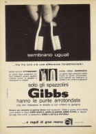 # TOOTHBRUSH GIBBS 1950s Advert Pubblicità Publicitè Reklame Brosse Spazzolino Zahnburste Cepillo Oral Dental Healthcare - Medical & Dental Equipment