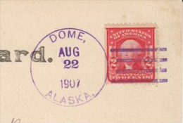 Dome Alaska DPO-7 Rare Closed Post Office Postmark Cancel, Snow Scene C1900s Vintage Real Photo Postcard - Vereinigte Staaten