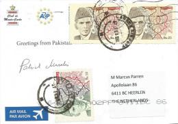 Pakistan 2014 Lahore President Mohammad Ali Jinnah Rs10 Rs 25 Viewcard - Célébrités