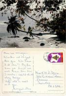 Beach Scene, Kenya Postcard Posted 1993 Stamp - Kenya
