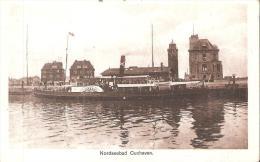 """AK 852  Nordseebad Cuxhaven - Motiv Mit Raddampfer  """" Delphin """" Um 1920-30 - Cuxhaven"""