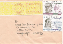 """Colombia 1998 Popayan Indian African Meter Franking Hasler """"Mailmaster"""" LC 3233 EMA Cover - Colombia"""